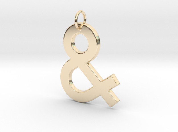 Ampersand in 14k Gold Plated Brass