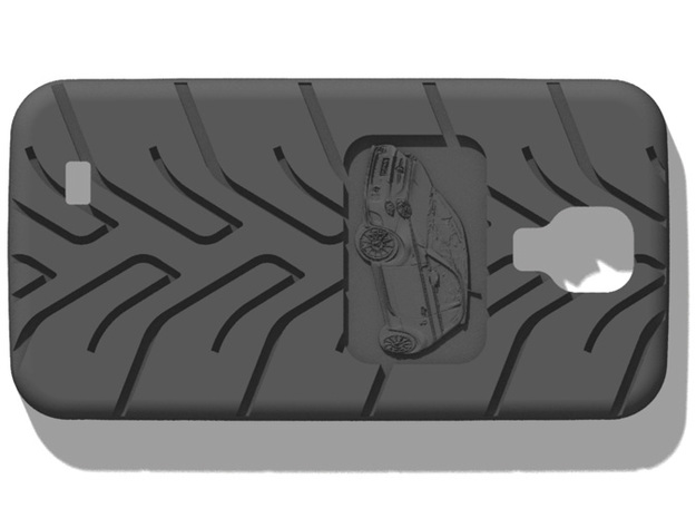 Galaxy S4 Fiat 500 A048 tread in Black Natural Versatile Plastic