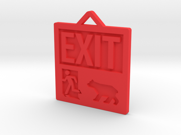 Exit Pursued By Bear in Red Processed Versatile Plastic