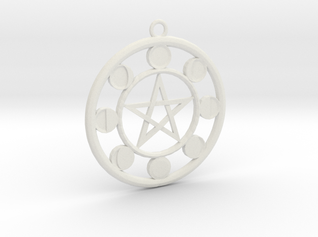 Lunar Phases Pentacle Pendant