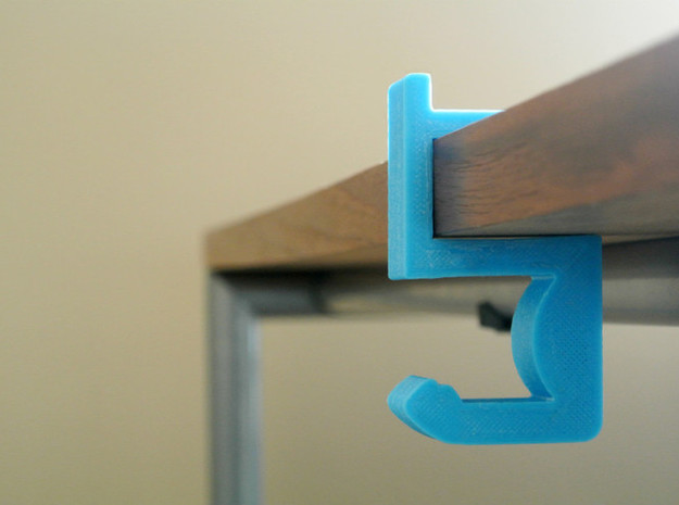 Arm Hook - Don't put your backpack on the floor! in Blue Strong & Flexible Polished