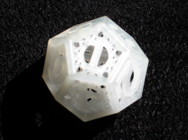 Woven Dice - Small 3d printed Twelve sided die.