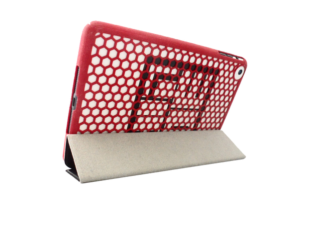 Honey Comb iPad Mini Case in White Strong & Flexible