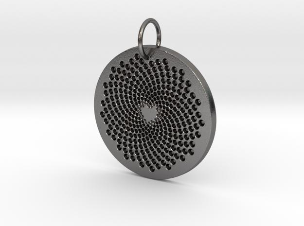 Sunflower Heart in Polished Nickel Steel