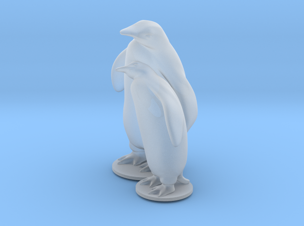 Penguins in Smooth Fine Detail Plastic