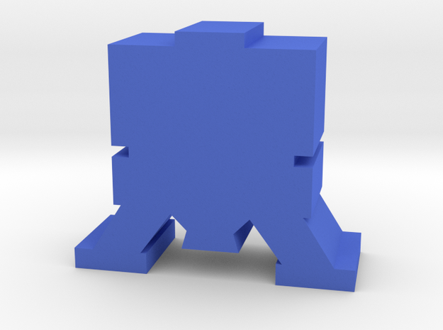 Game Piece, Moon Lander in Blue Processed Versatile Plastic