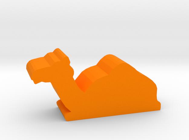 Game Piece, Camel, sitting in Orange Processed Versatile Plastic