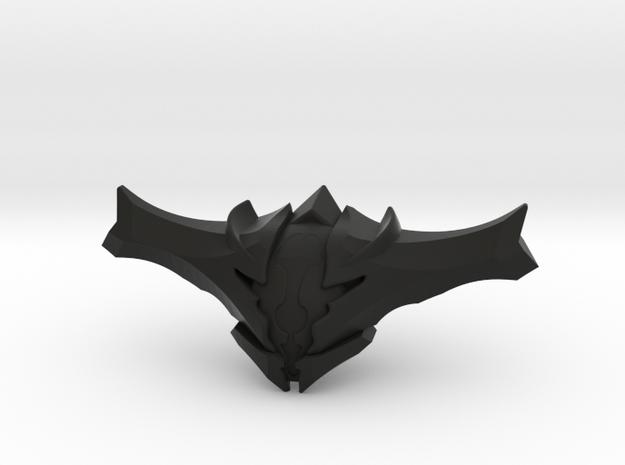 Oryx Head in Black Natural Versatile Plastic