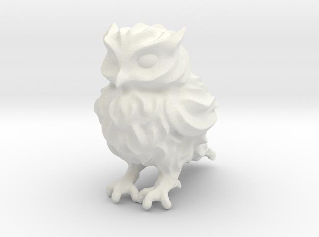 Owl Etta - Plastic in White Natural Versatile Plastic