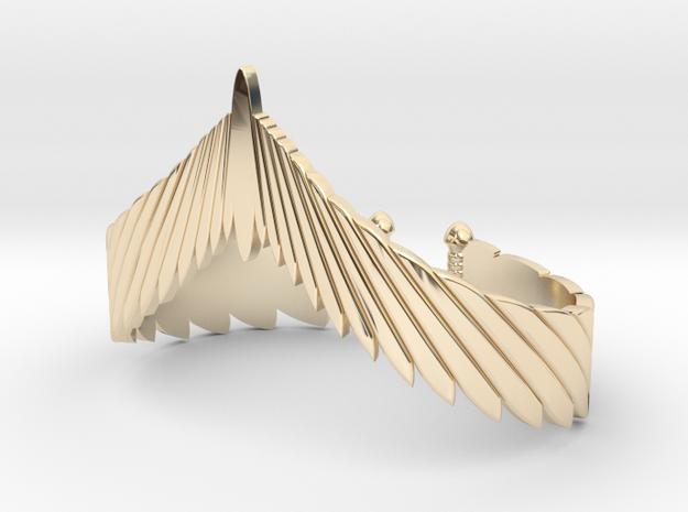 Falcon Wing Bracelet in 14k Gold Plated Brass