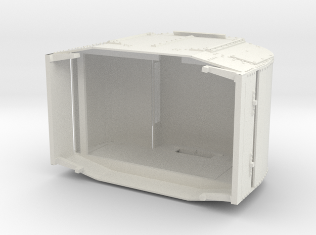A-1-19-armoured-simplex1 in White Natural Versatile Plastic