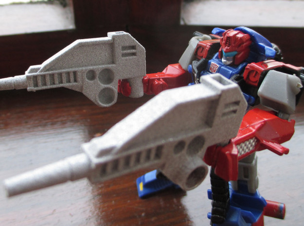 CW 'GROOVE' Guns (Twin) inspired by G1 Override in White Processed Versatile Plastic