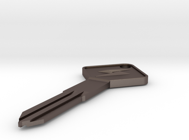 S12 Silvia Key Blank - Square Style in Polished Bronzed Silver Steel