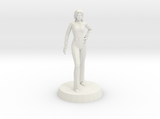 Woman - Confident Stance in White Natural Versatile Plastic