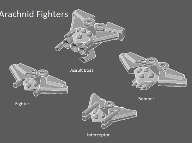 6 Arachnid Assault boats 3d printed faction preview