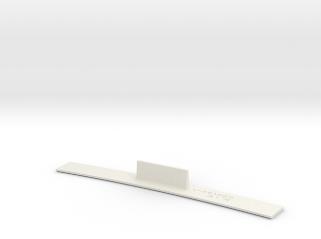 ME83-31R Curve Template HO Scale in White Natural Versatile Plastic