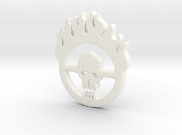 Mad Max: Fury Road Brand Pendant in White Processed Versatile Plastic