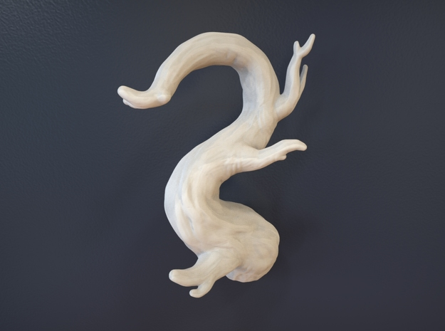 Tree Branch Wall Art - 02 in White Natural Versatile Plastic