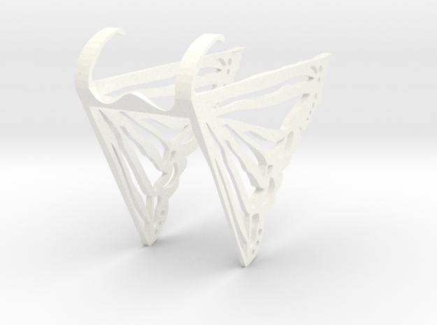 Butterfly1 in White Strong & Flexible Polished