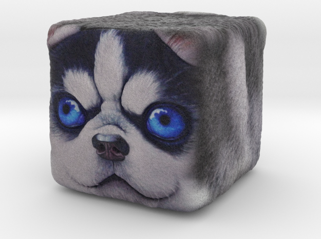Dog Cube Husky in Full Color Sandstone