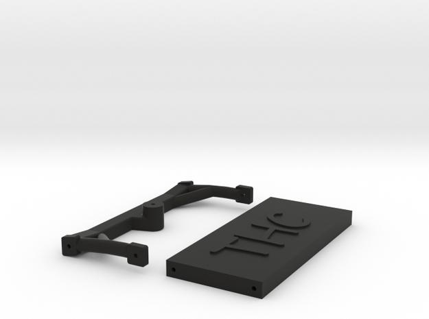 "1/10 SCALE ""WRONCHO"" CROSS MEMBER SET in Black Natural Versatile Plastic"