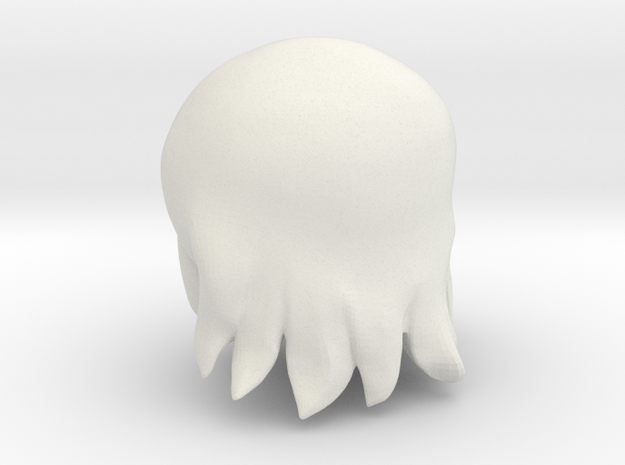 Cartoon Head (Meina) in White Natural Versatile Plastic