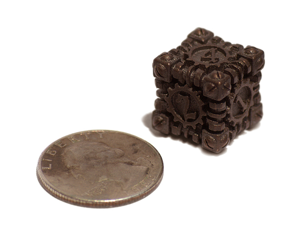 Steampunk Gaming Dice 3d printed Size Comparison