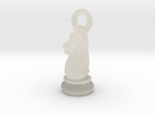 Chess Knight Pendant 3d printed