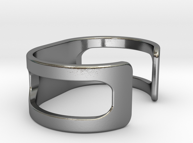 Bracelet, size 1, embossed - 51x22 in Polished Silver