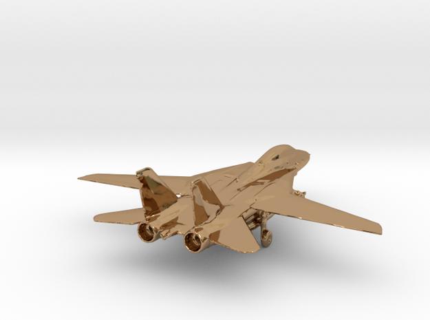F14 grumman jet gold & precious materials small in Polished Brass