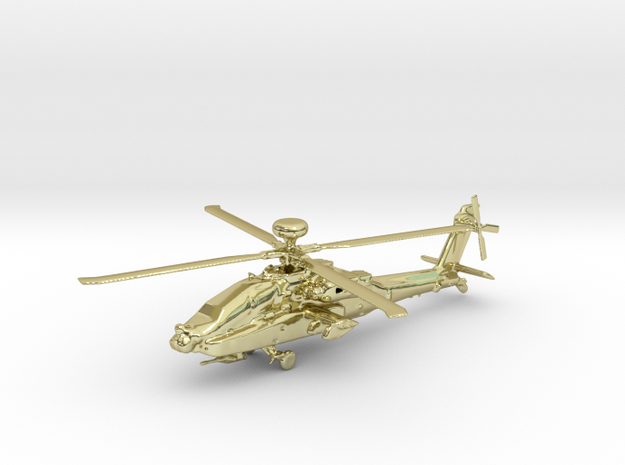 Helicopter Apache Ah-64 Gold & precious materials