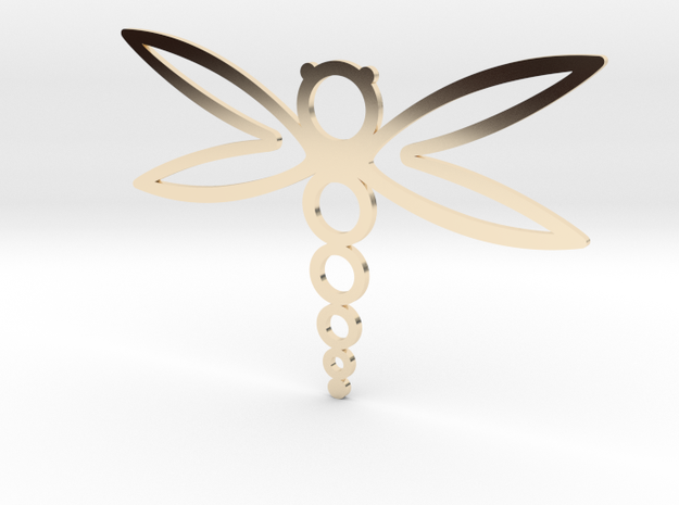 Dragonfly in 14k Gold Plated Brass