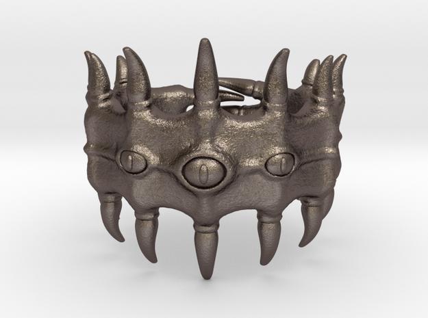 Devourer of Fingers in Polished Bronzed Silver Steel