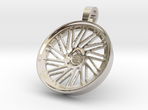 Vossen LC105 KeyChain Pendant 35mm in Rhodium Plated Brass