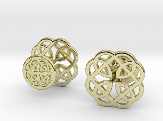 CELTIC KNOT CUFFLINKS 121415 in 18k Gold Plated Brass