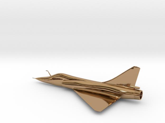 Dassault Mirage 2000 gold 100mm in Polished Brass