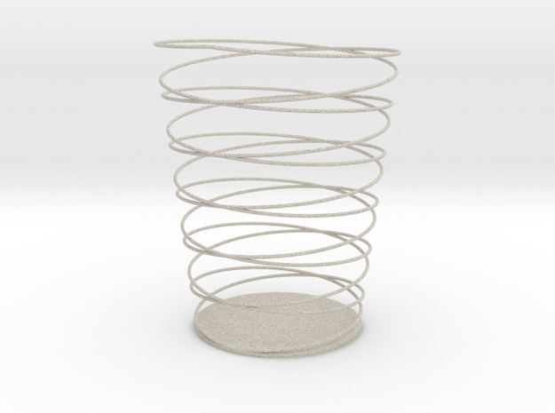 Double Spiral Pencil Holder in Sandstone