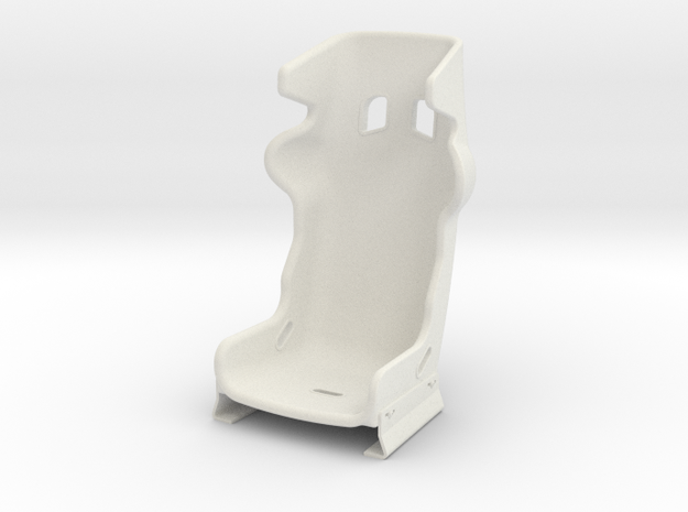 1/6 Scale Racing Seat in White Natural Versatile Plastic