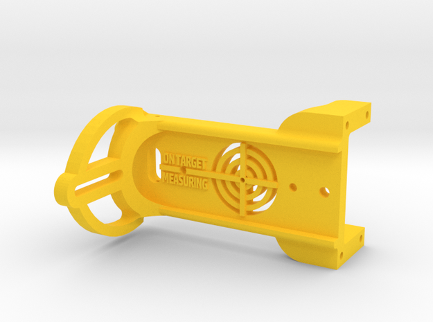 Plate Connector in Yellow Processed Versatile Plastic