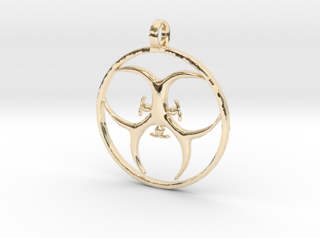 [The 100] Trigedakru Symbol Pendant - Woods Clan in 14K Yellow Gold