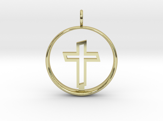 Cross Pendant 2 - (Medium) in 18K Gold Plated