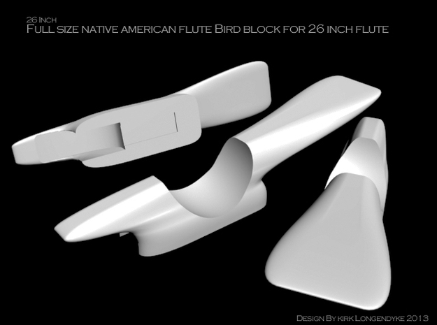 Bird101kl 3d printed Bird Block for the 26 inch Native American Flute.