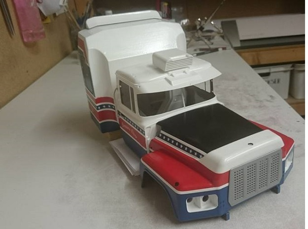 """Mack-hood-Valueliner-twin-lamps-airintake 3d printed A MACK beauty in the making by """"Kennien1981"""""""