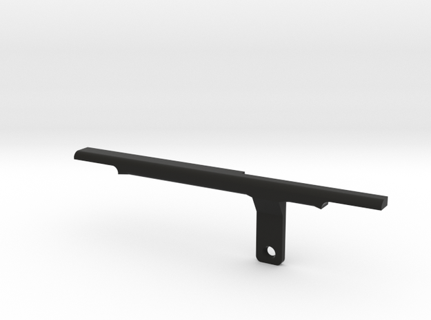 ThumbRail (Bridge)-fits Fender Amer Dlx Jazz 5 in Black Natural Versatile Plastic