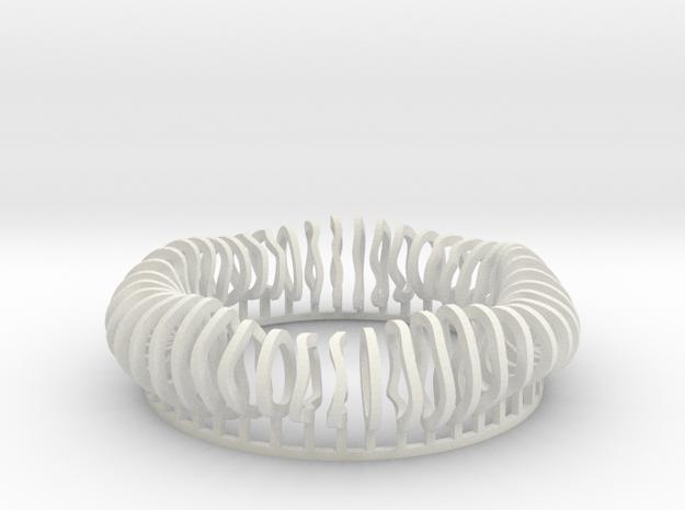 Stellarator (Fusion Reactor) in White Natural Versatile Plastic