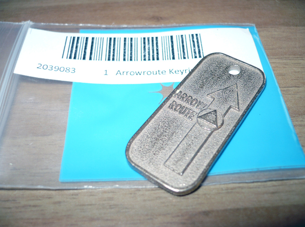 Arrow Route Keyring 8cm Lunghezza 3d printed