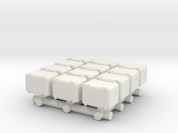 Bunker-Tec Storage Container Pack 1 in White Strong & Flexible
