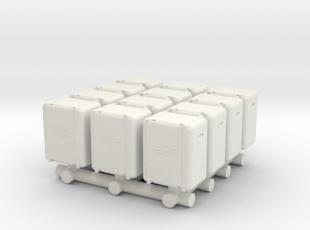 Bunker-Tec Storage Container Pack 2 in White Strong & Flexible