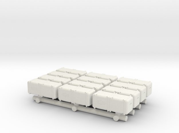 Bunker-Tec Storage Container Pack 3 in White Strong & Flexible