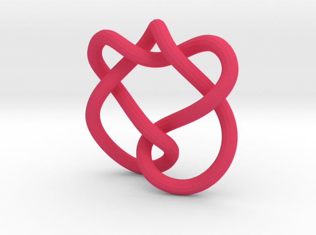 Celtic Heart Knot in Pink Strong & Flexible Polished